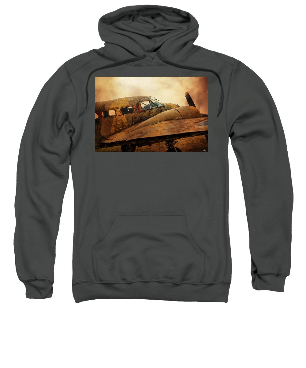 Aeroplane Sweatshirt featuring the photograph Vintage Prop Plane by Evie Carrier