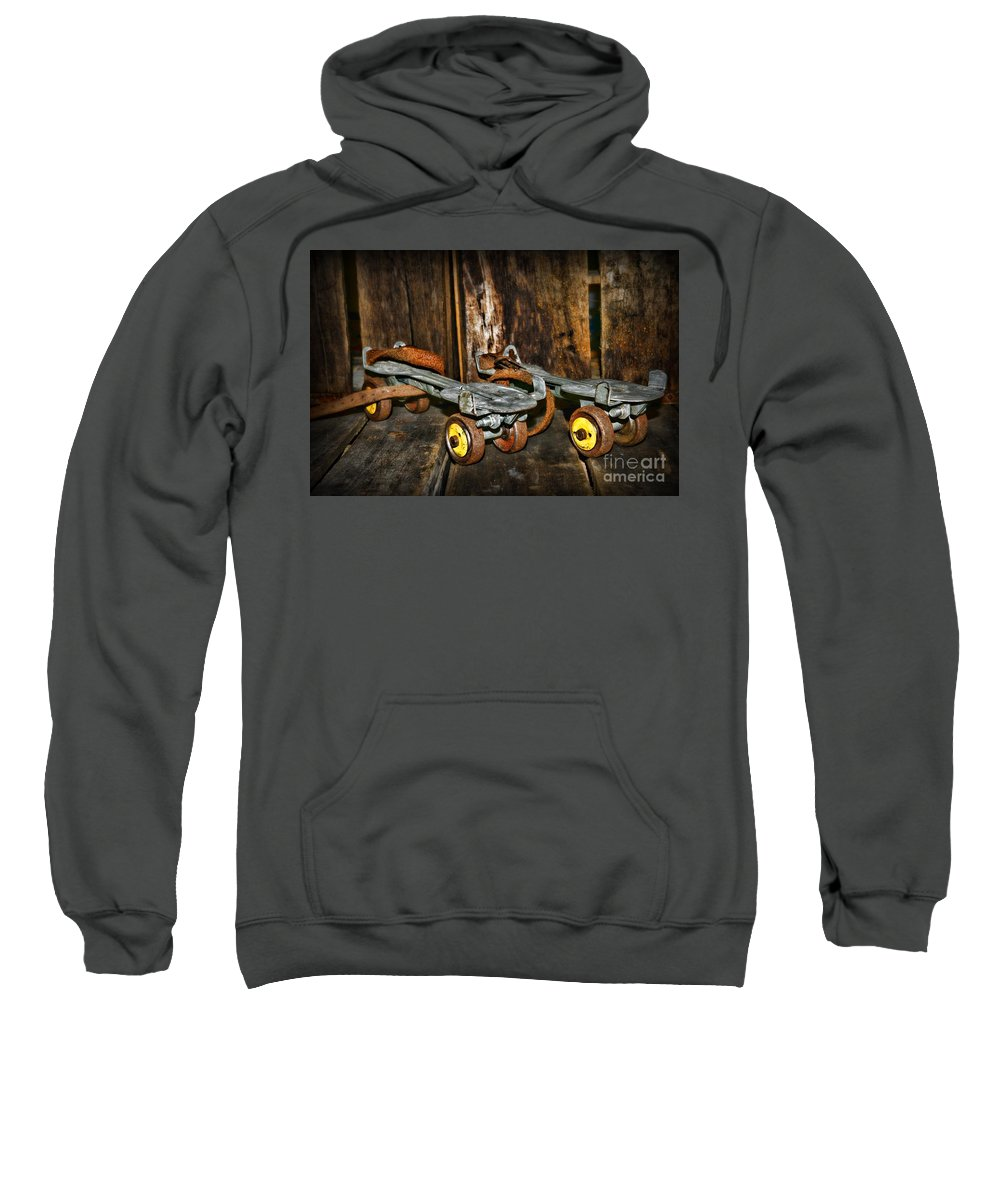 Paul Ward Sweatshirt featuring the photograph Vintage Roller Skates 3 by Paul Ward