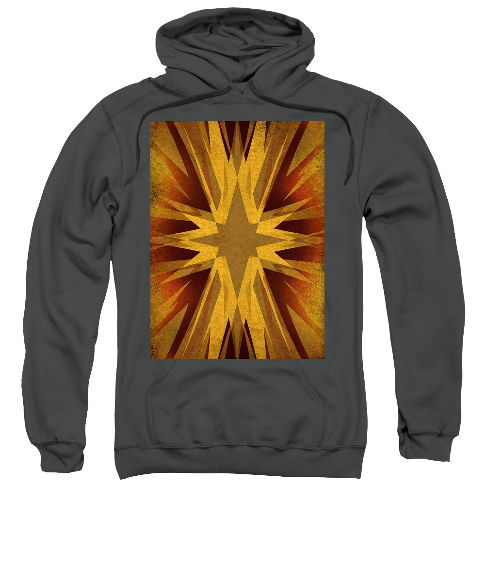 Background Sweatshirt featuring the digital art Vintage Star by Steve Ball