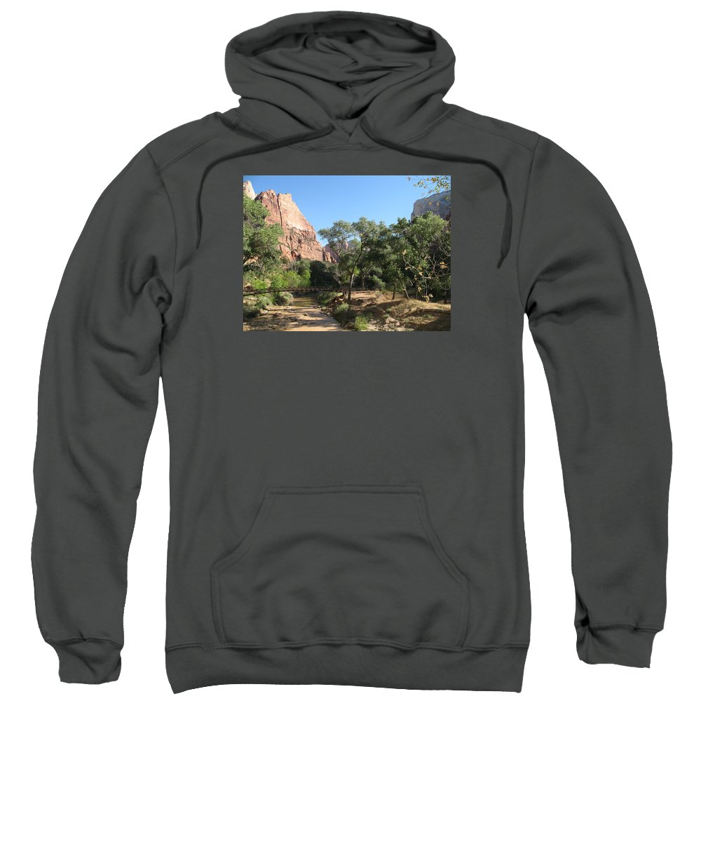 River Sweatshirt featuring the photograph Virgin River Bridge by Christiane Schulze Art And Photography