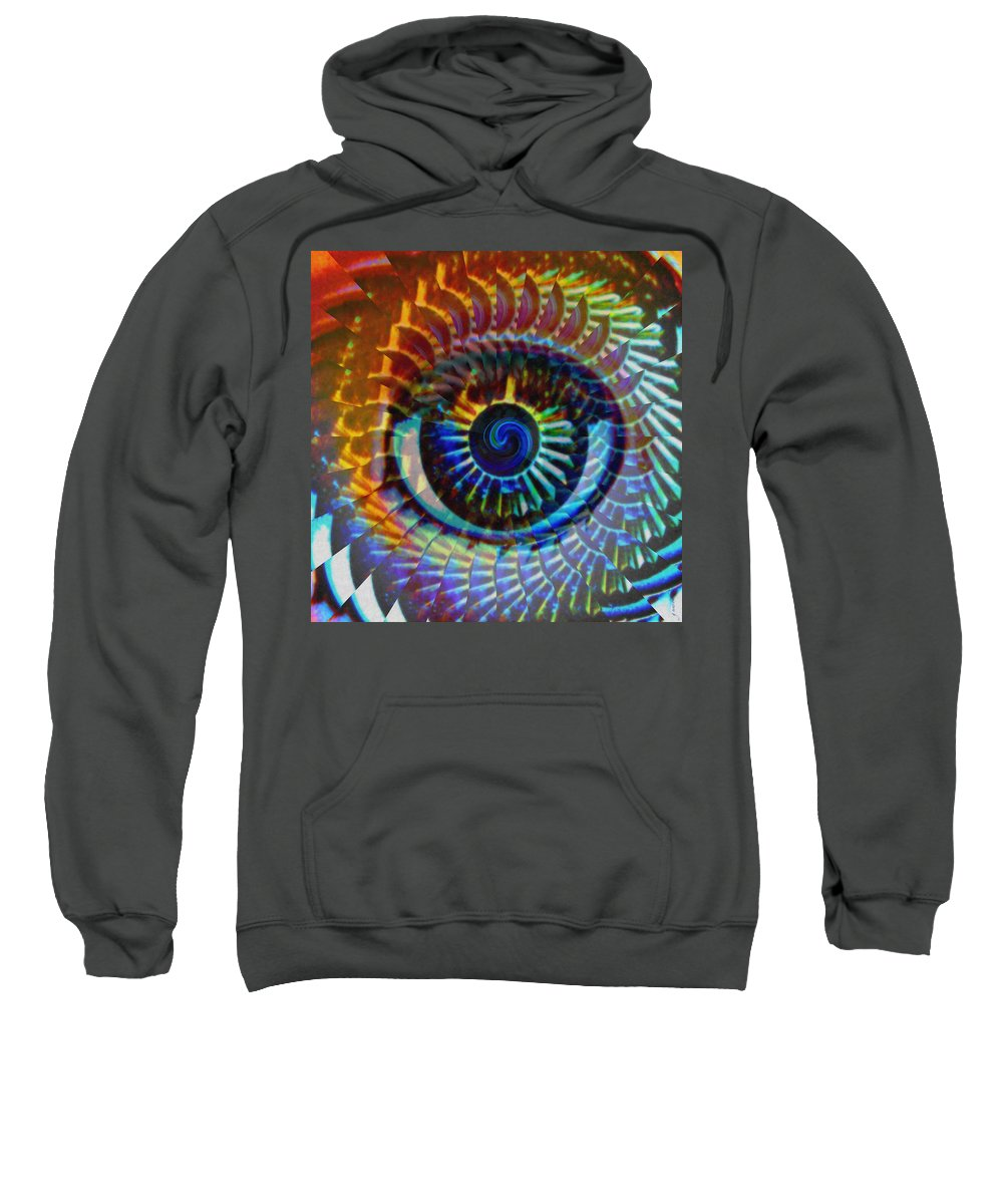 Abstract Sweatshirt featuring the photograph Visionary by Gwyn Newcombe