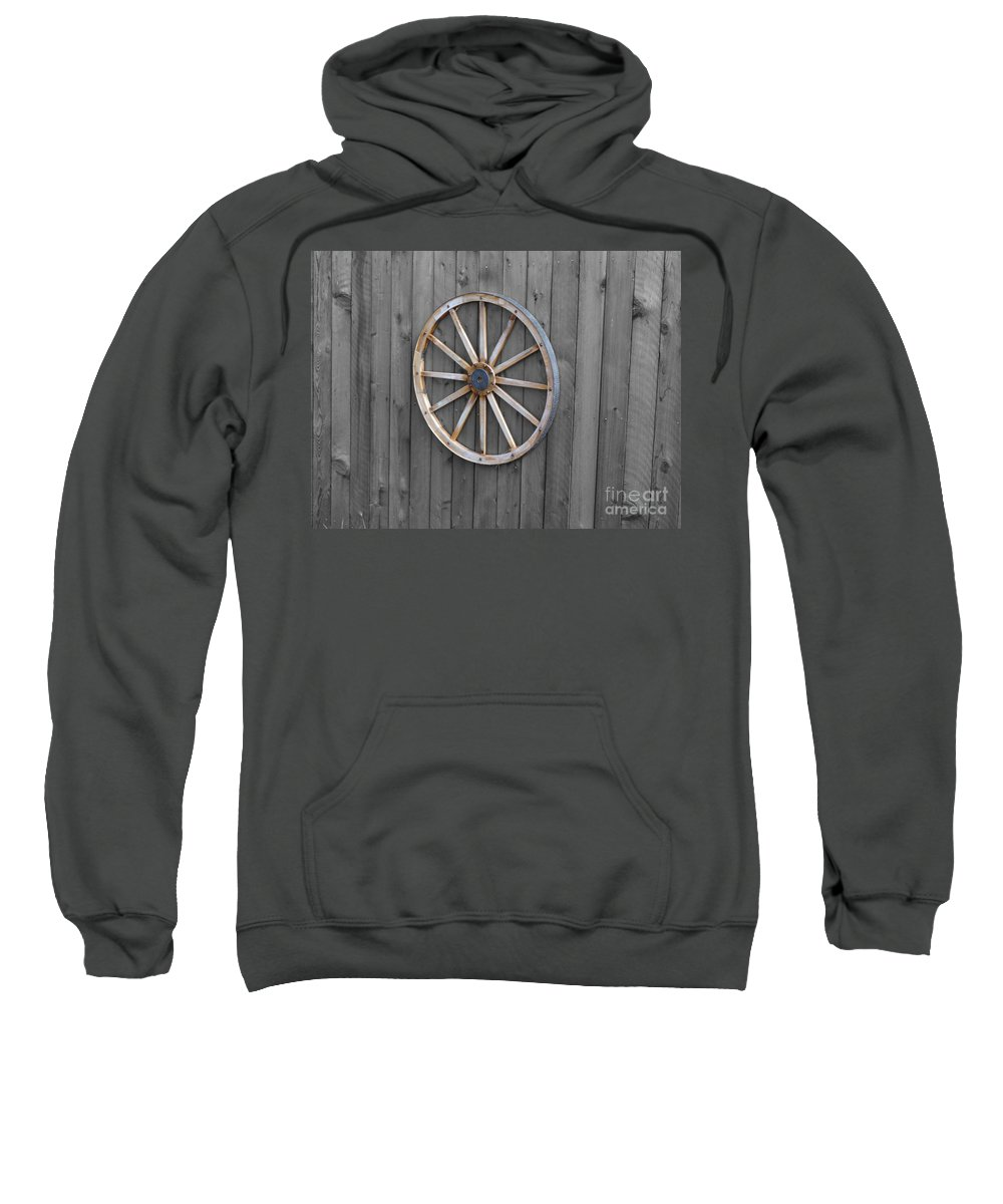 Wagon Wheel Sweatshirt featuring the photograph Wagon Wheel by Erik Dunn