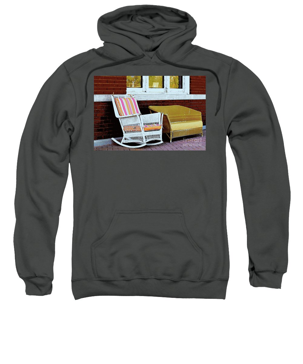 Wicker Sweatshirt featuring the photograph Waiting For The Train by Catherine Sherman