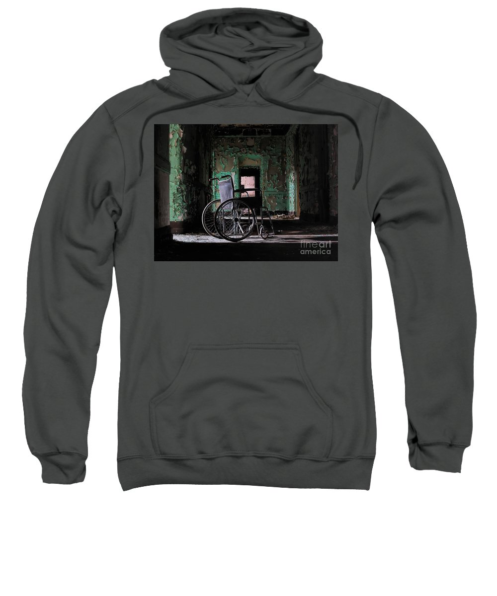 Wheelchair Sweatshirt featuring the photograph Waiting In The Light by Rick Kuperberg Sr
