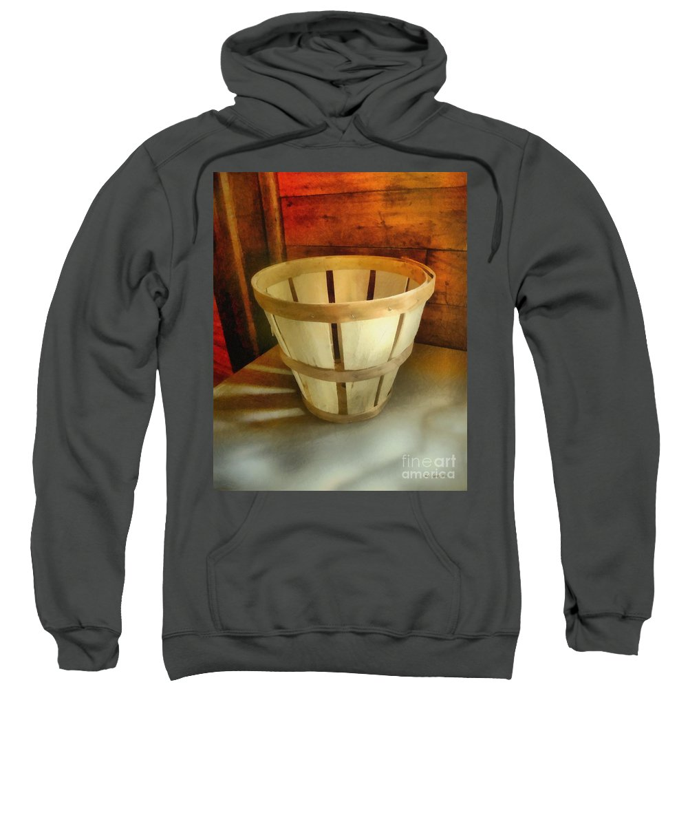 Basket Sweatshirt featuring the painting Waiting To Be Filled by RC DeWinter