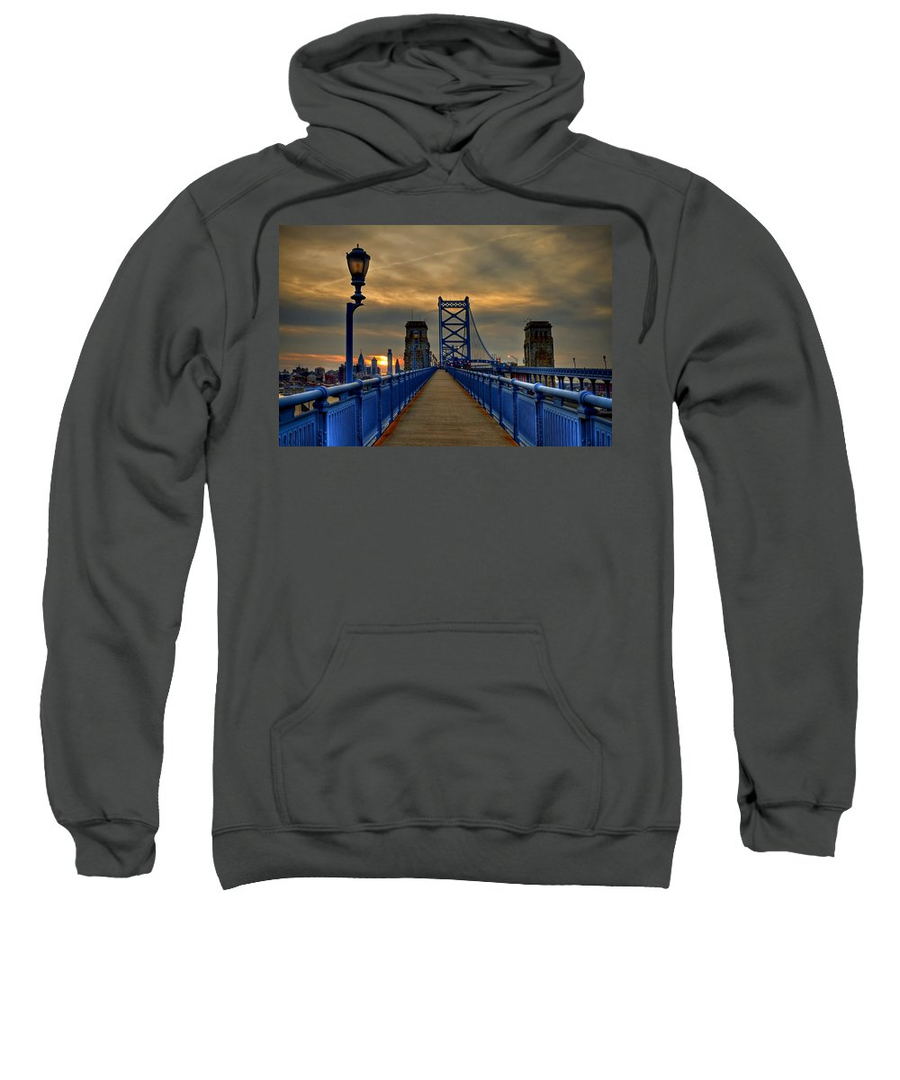 America Sweatshirt featuring the photograph Walk With Me by Evelina Kremsdorf