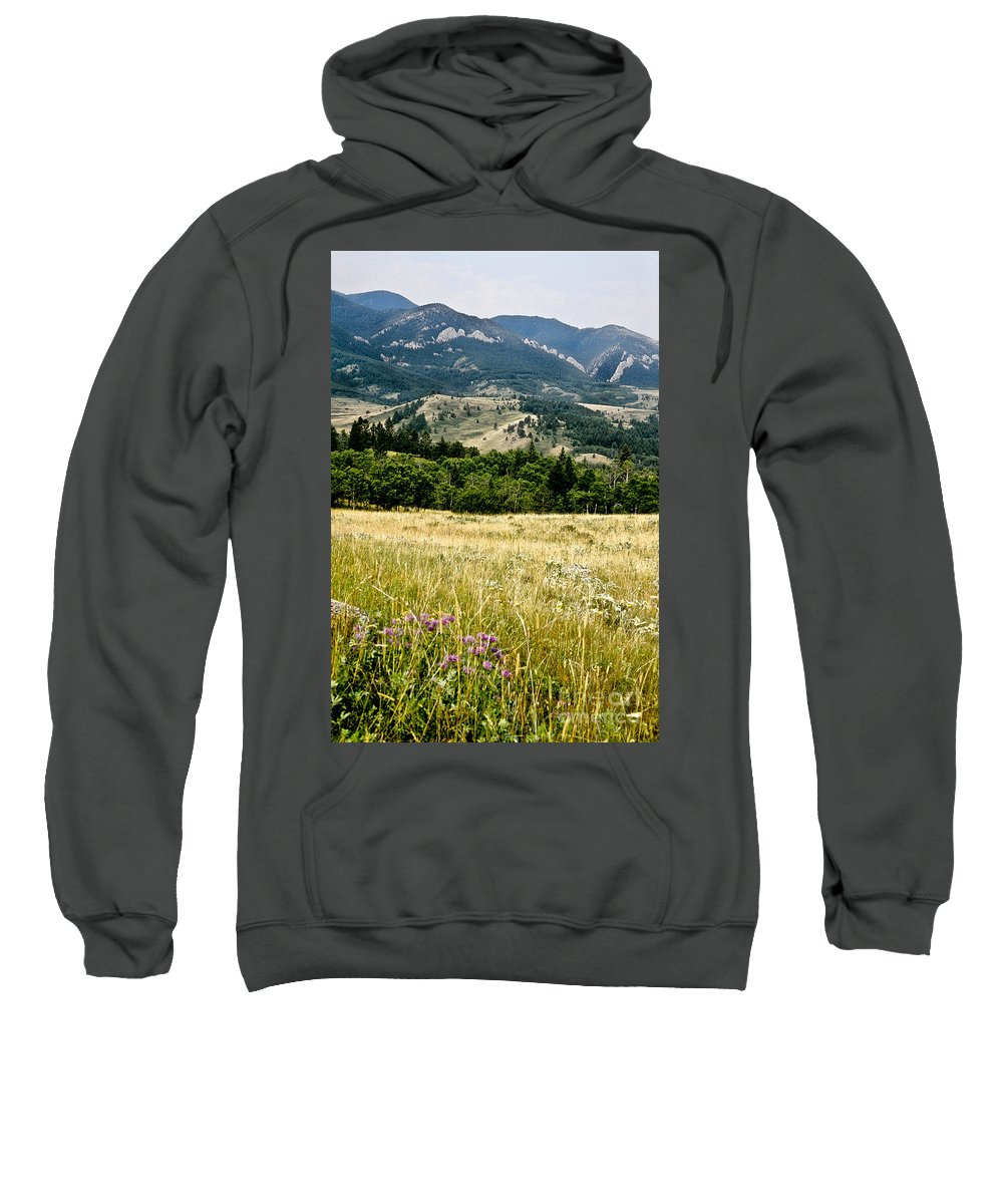 Wilderness Sweatshirt featuring the photograph Washake Wilderness by Kathy McClure
