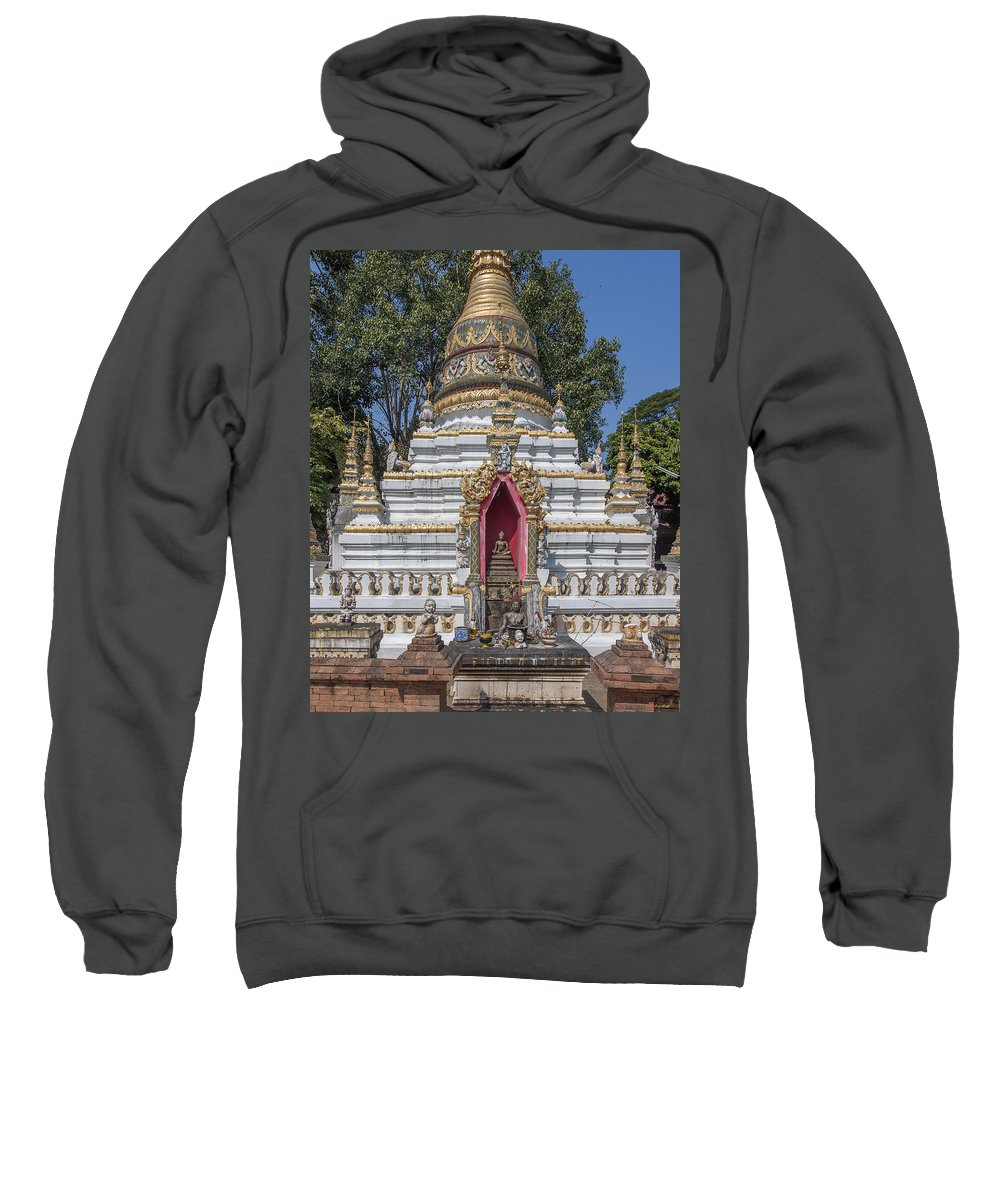Scenic Sweatshirt featuring the photograph Wat Chai Monkol Phra Chedi Buddha Niche Dthcm0863 by Gerry Gantt