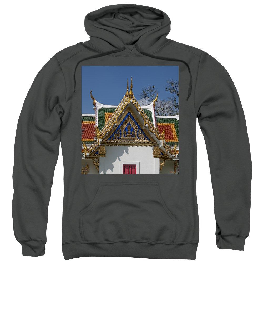 Bangkok Sweatshirt featuring the photograph Wat Phrasri Mahathat Ubosot North Wing Gable Dthb1469 by Gerry Gantt