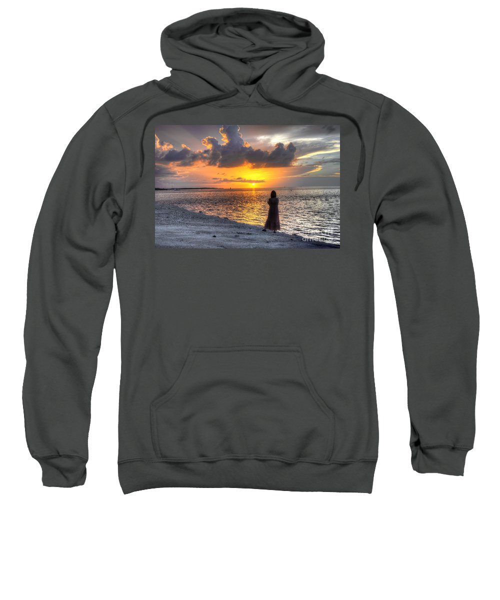 Sunrise Sweatshirt featuring the photograph Watching The Sunrise by Bruce Bain
