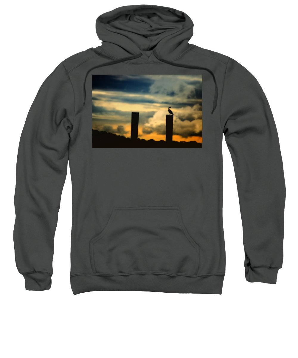 Landscape Sweatshirt featuring the photograph Watching The Sunrise by Karol Livote