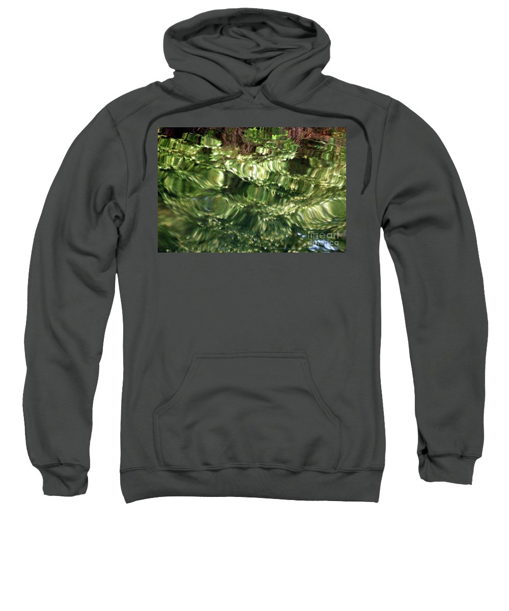Water Sweatshirt featuring the photograph Water Abstract by Kathleen Struckle