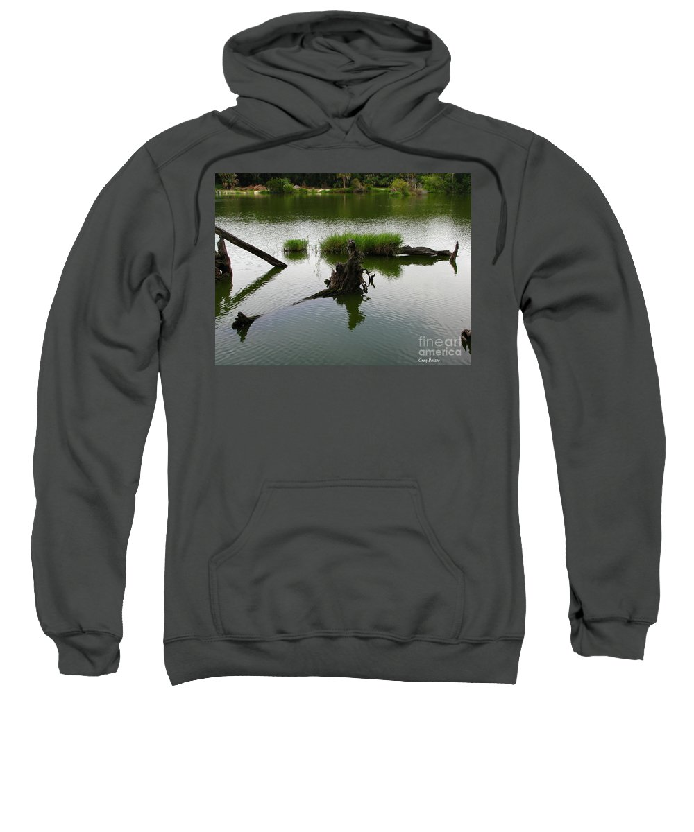 Art For The Wall...patzer Photography Sweatshirt featuring the photograph Water Art by Greg Patzer