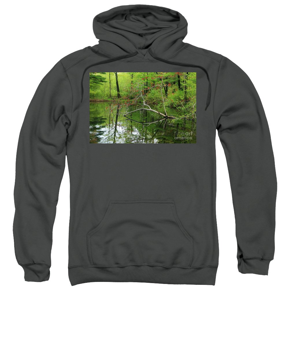 Reflection Sweatshirt featuring the photograph Water Bridge by Neal Eslinger