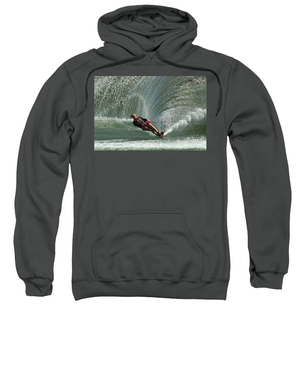 Water Skiing Sweatshirt featuring the photograph Water Skiing Magic Of Water 27 by Bob Christopher
