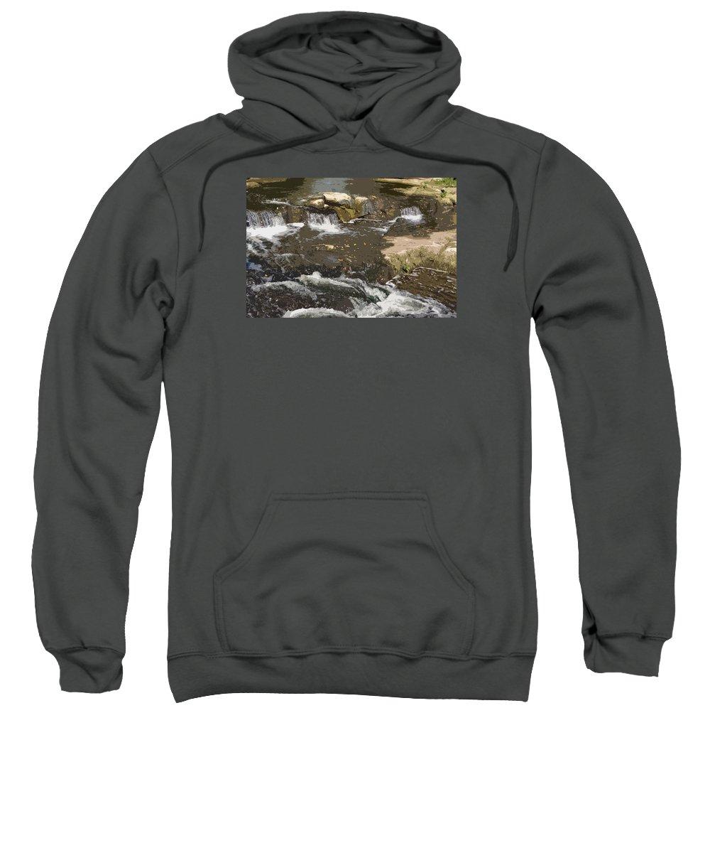 Waterfall Sweatshirt featuring the photograph Waterfall by Dyana Rzentkowski