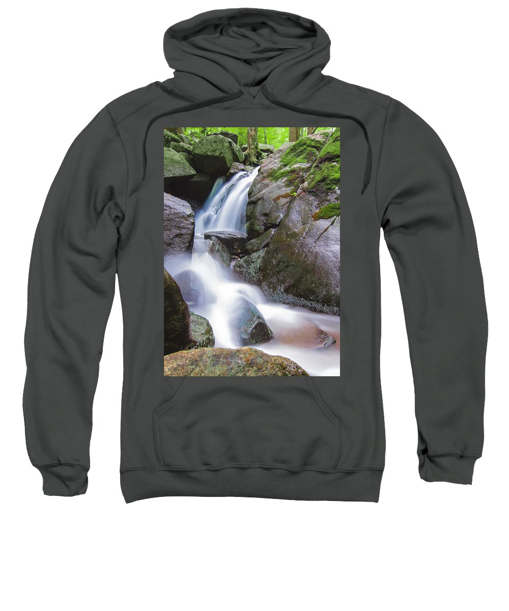 Landscape Sweatshirt featuring the photograph Waterfall by Eduard Moldoveanu