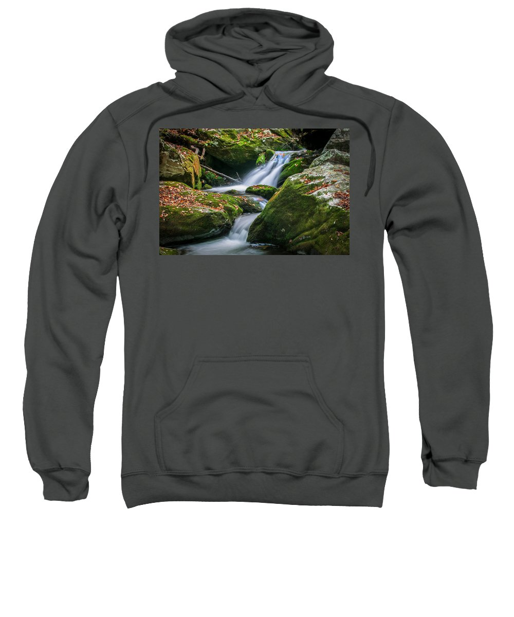 Waterfalls Sweatshirt featuring the photograph Waterfall Great Smoky Mountains by Rich Franco