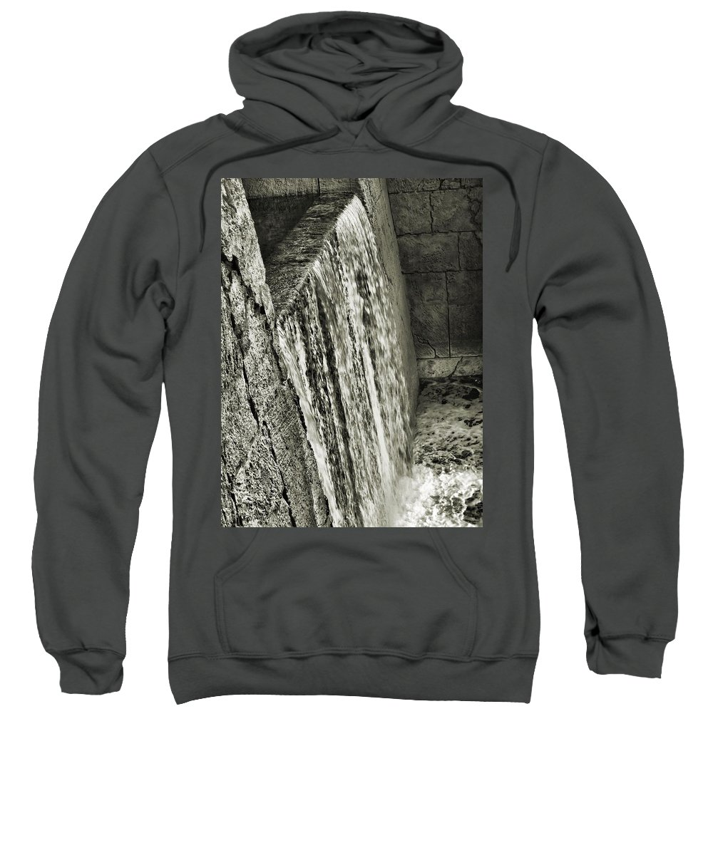 Water Sweatshirt featuring the photograph Waterfall by John Holfinger
