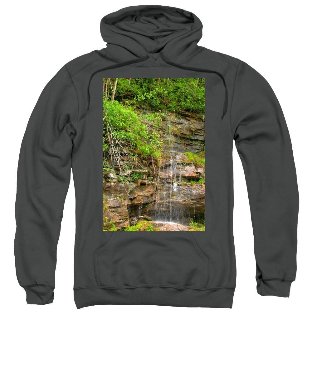 Wright Sweatshirt featuring the photograph Waterfall On The Way To Thurmond by Paulette B Wright
