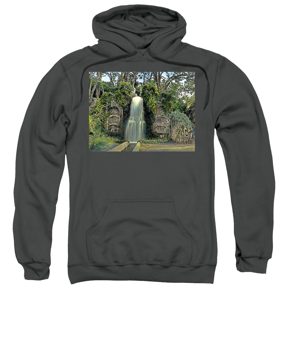 Tranquil Sweatshirt featuring the painting Waterfall by Terry Reynoldson