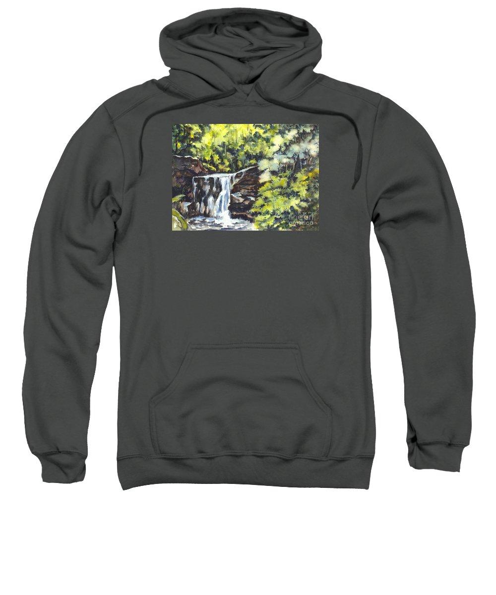 Watercolor Sweatshirt featuring the painting In Central Park N Y C by Carol Wisniewski