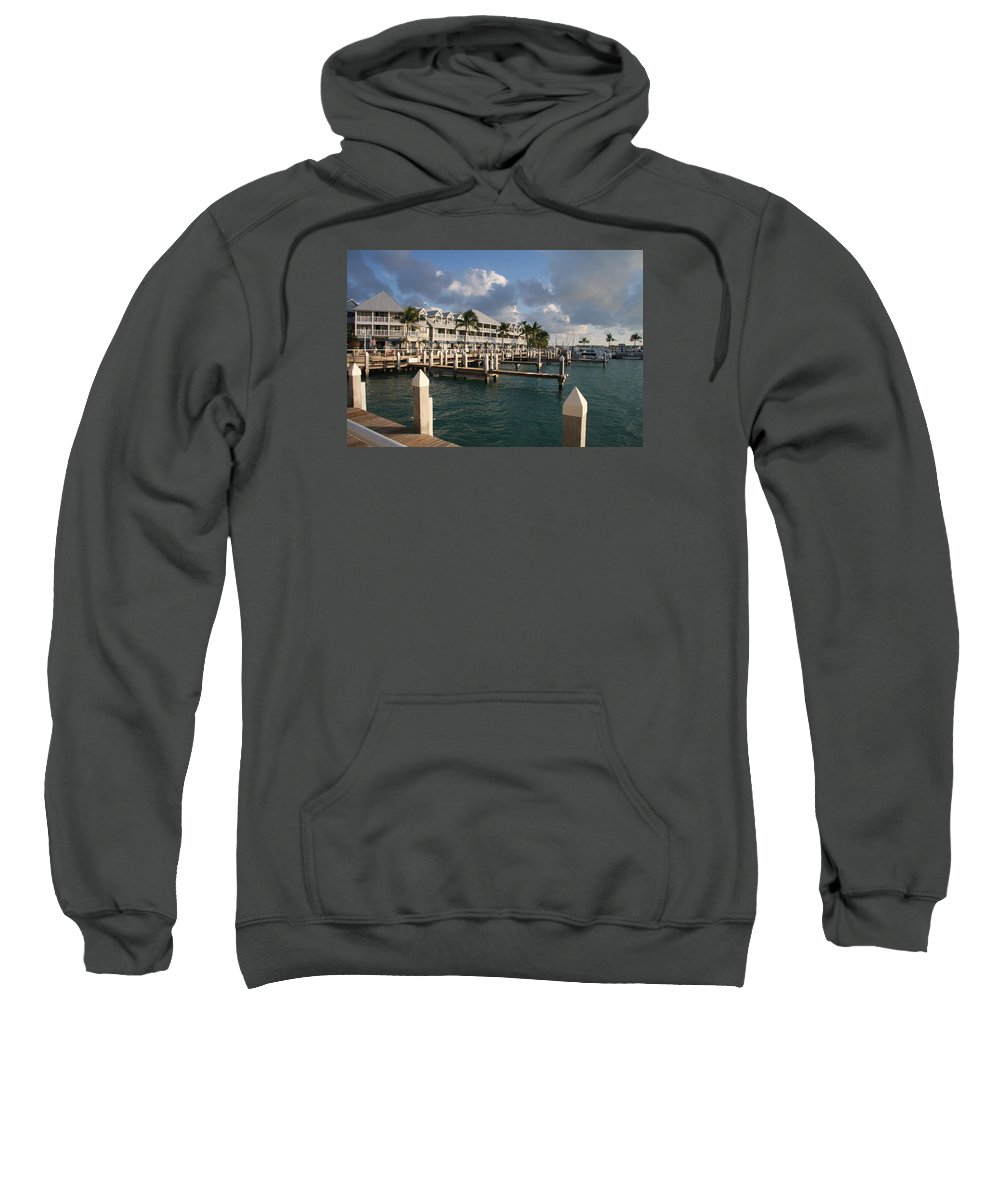 Bayfront Sweatshirt featuring the photograph Waterfront Key West by Christiane Schulze Art And Photography