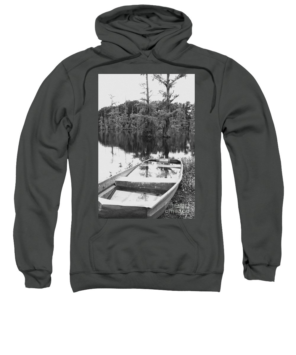 Boat Sweatshirt featuring the photograph Waterlogged by Scott Pellegrin