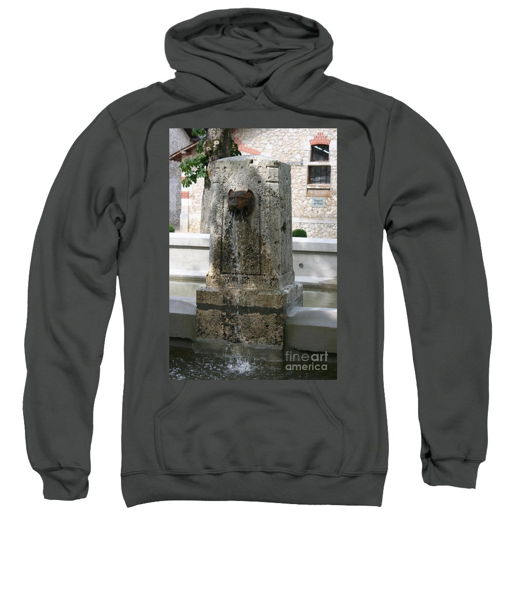 Water Sweatshirt featuring the photograph Waterspout Garden Chateau Chaumont by Christiane Schulze Art And Photography