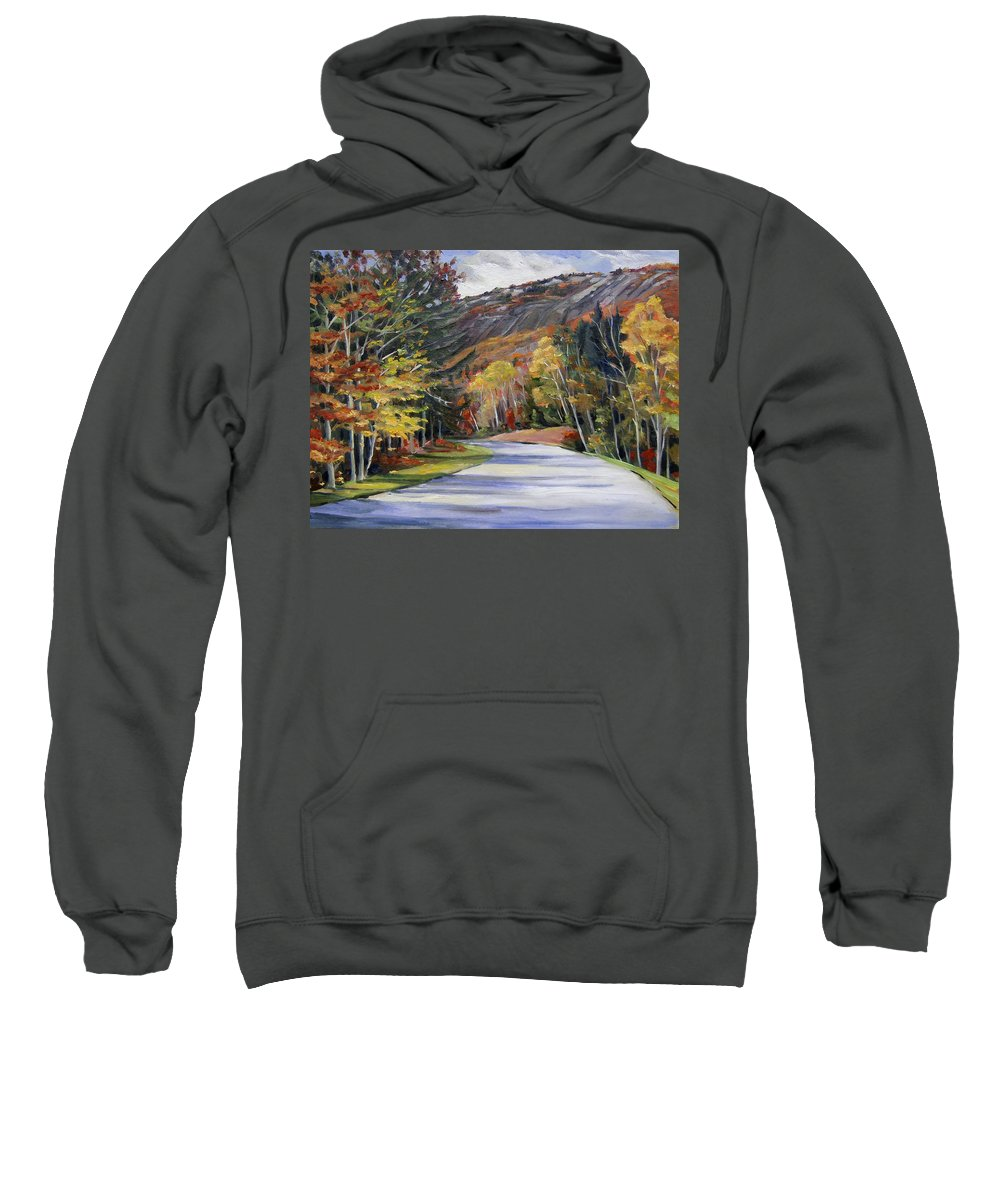 White Mountain Art Sweatshirt featuring the painting Waterville Road New Hampshire by Nancy Griswold