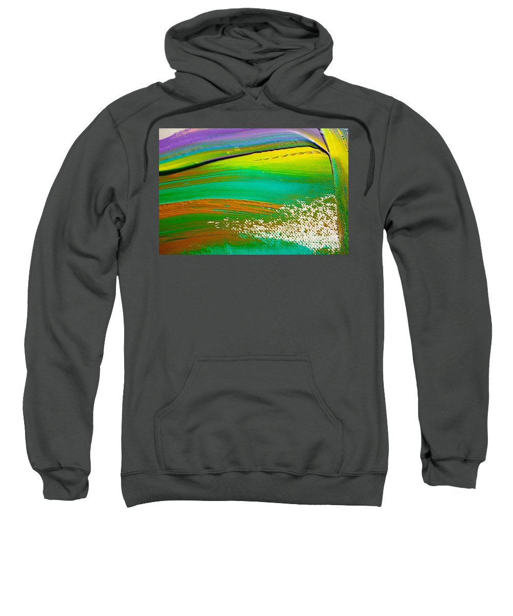Paint Sweatshirt featuring the painting We Paint 5 by Jacqueline Athmann