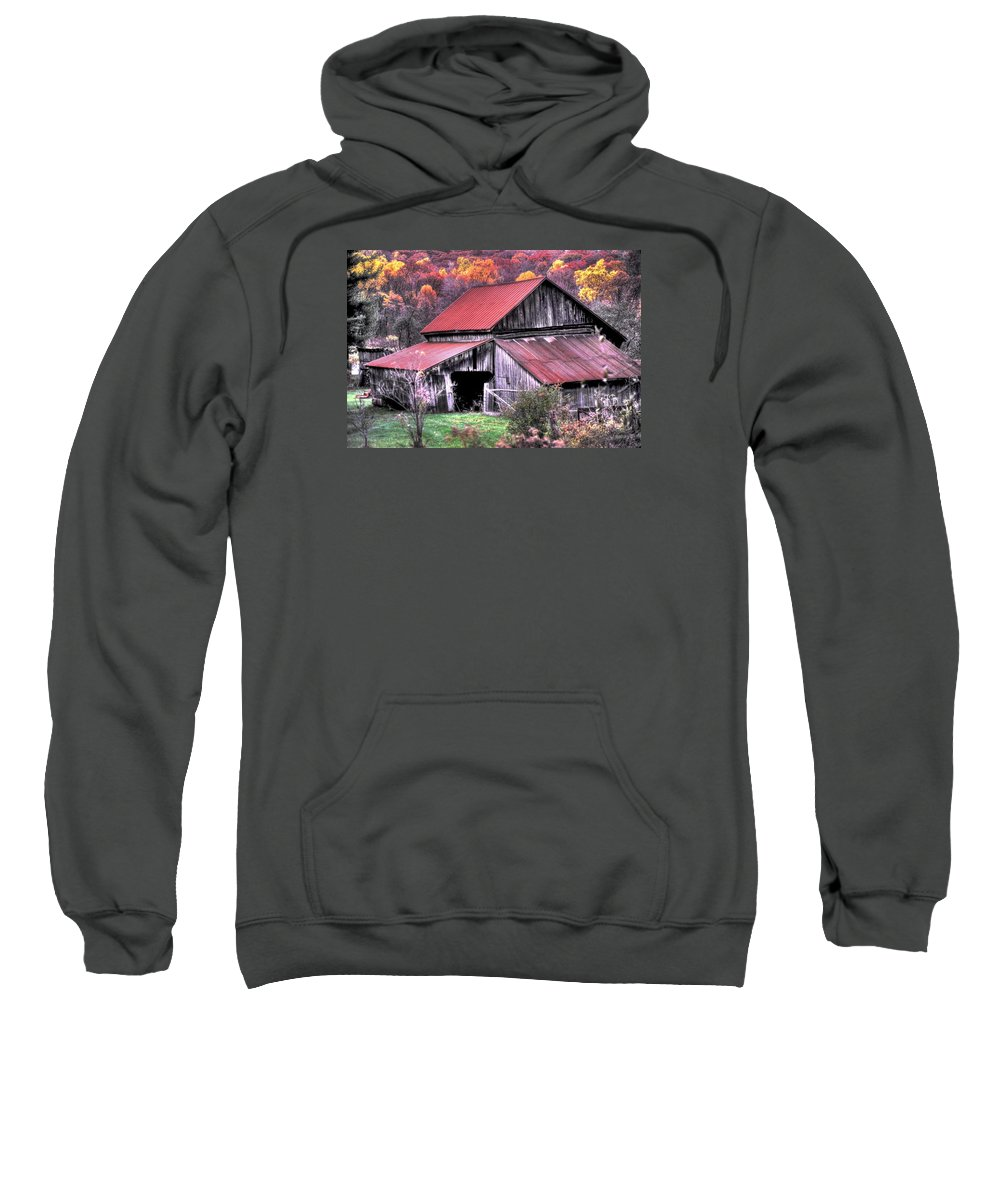 West Virginia Sweatshirt featuring the photograph West Virginia Country Roads - Nearing The Threshold Of Yet Another Winter by Michael Mazaika