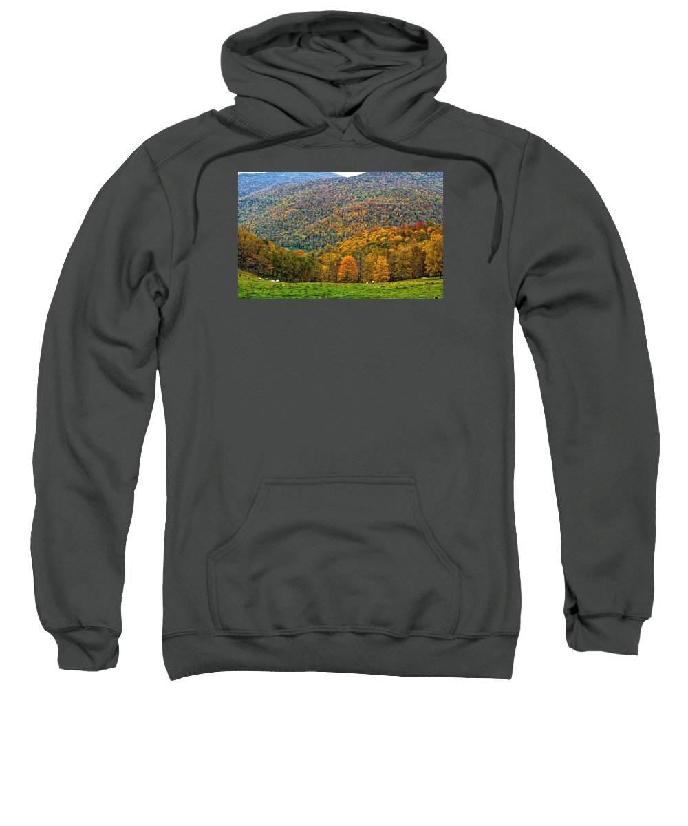 West Virginia Sweatshirt featuring the photograph West Virginia High by Steve Harrington