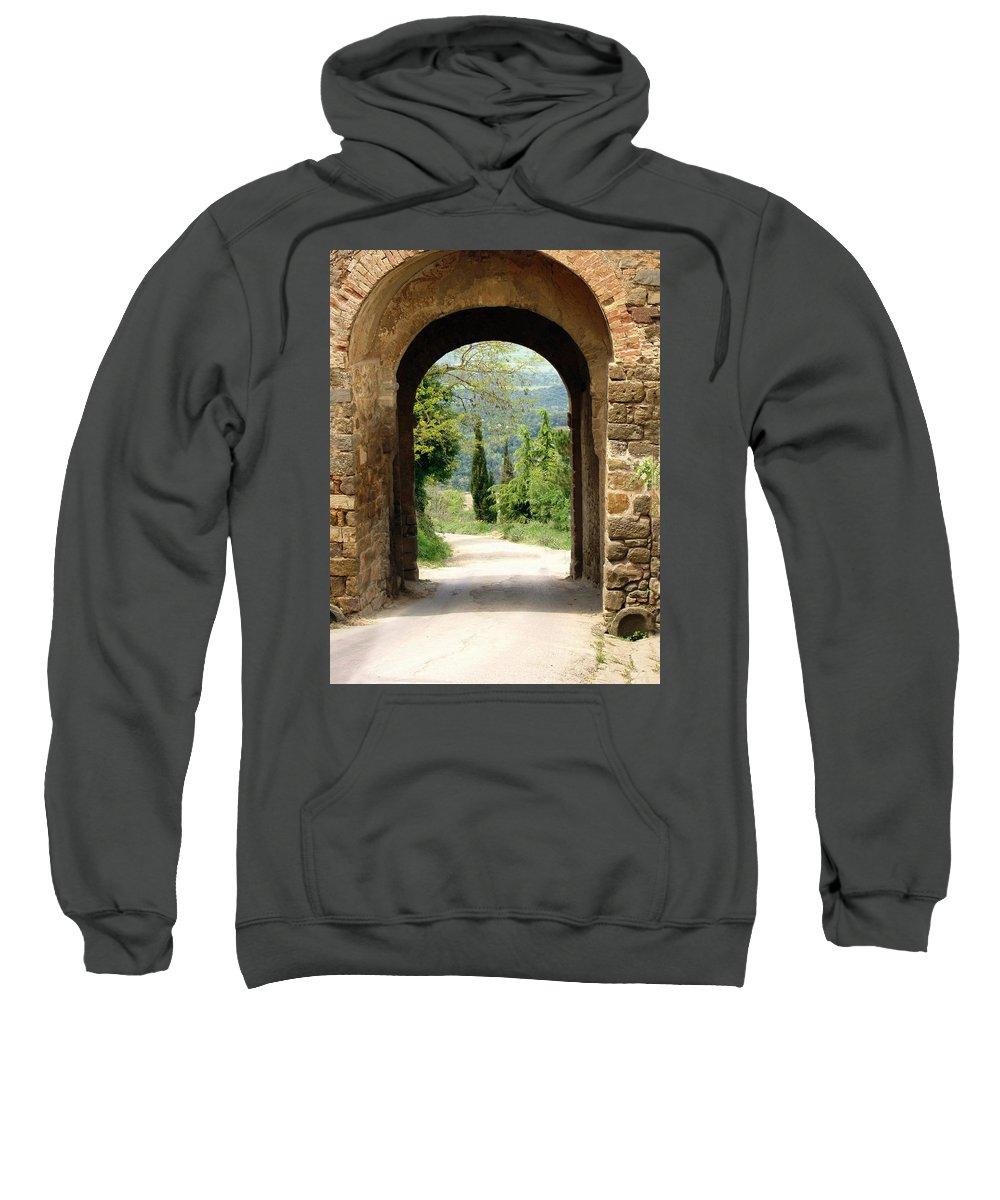 What Lies Ahead Sweatshirt featuring the photograph What Lies Ahead by Ellen Henneke