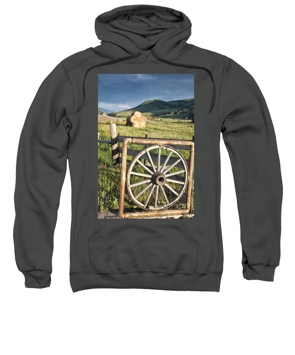 Colorado Sweatshirt featuring the photograph Wheelgate by Timothy Hacker