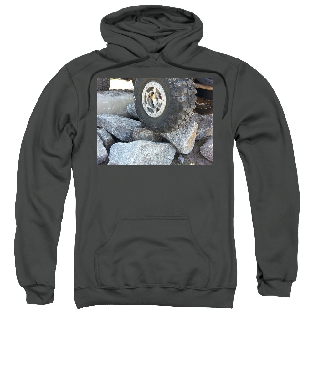 Vehicle Sweatshirt featuring the photograph Wheeling by Fortunate Findings Shirley Dickerson