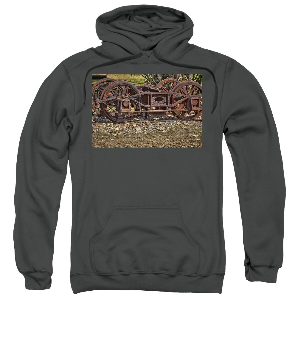 Steam Sweatshirt featuring the photograph Wheels V3 by Douglas Barnard