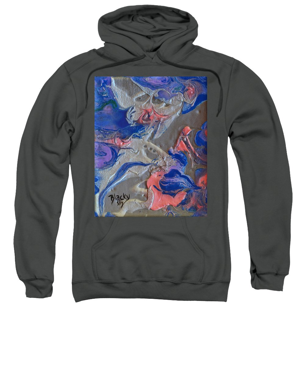 Modern Sweatshirt featuring the painting When Angels Fail by Donna Blackhall