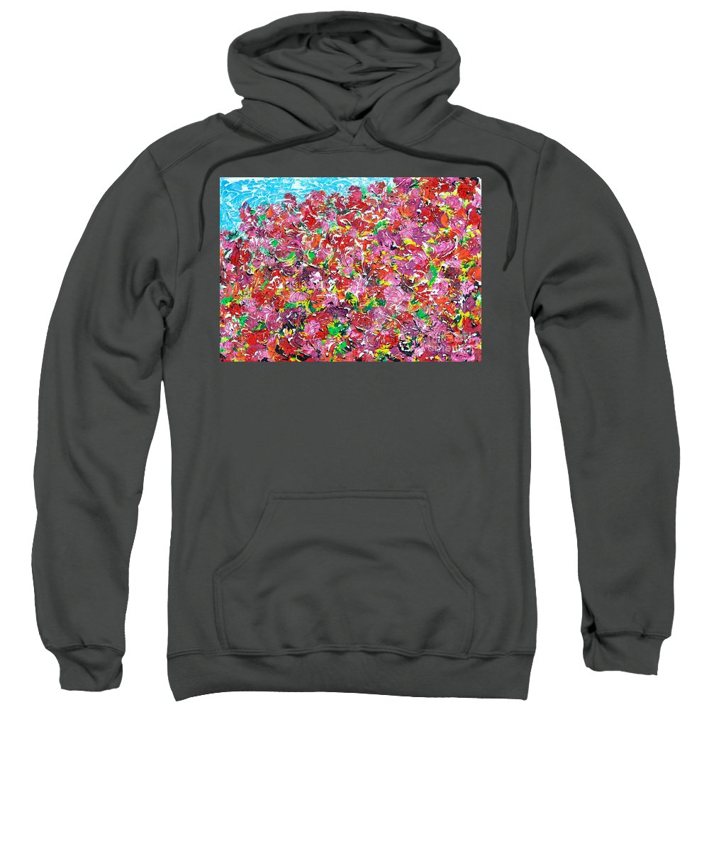 Roses Sweatshirt featuring the painting When The Roses Bloom I Will Marry You by Alys Caviness-Gober