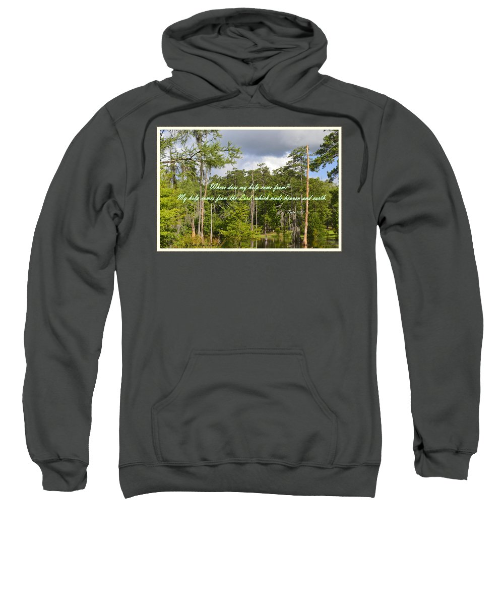 Birds Sweatshirt featuring the photograph Where Does My Help Come From by Leticia Latocki
