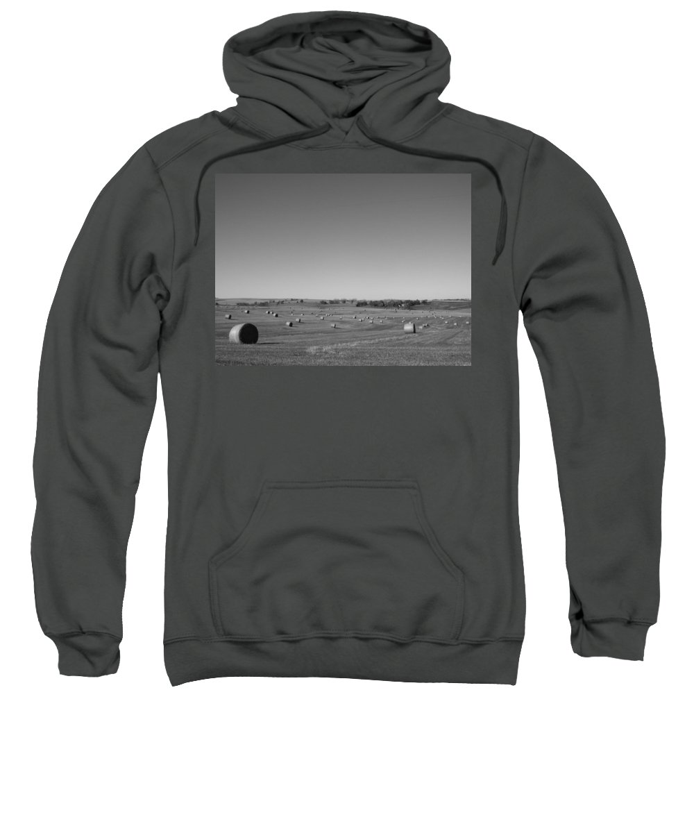 Hay Sweatshirt featuring the photograph While The Sun Shines by Caryl J Bohn
