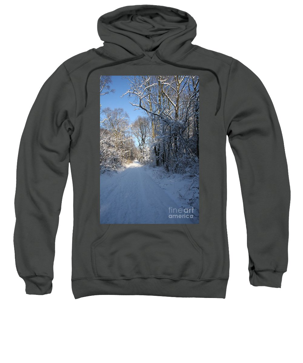 Winter Sweatshirt featuring the photograph White And Blue by Christiane Schulze Art And Photography