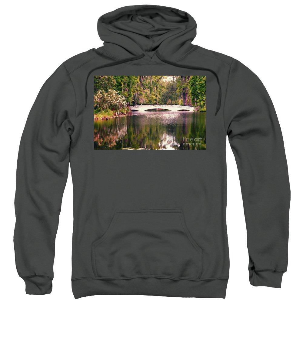 Bridge Sweatshirt featuring the photograph White Bridge by David Arment