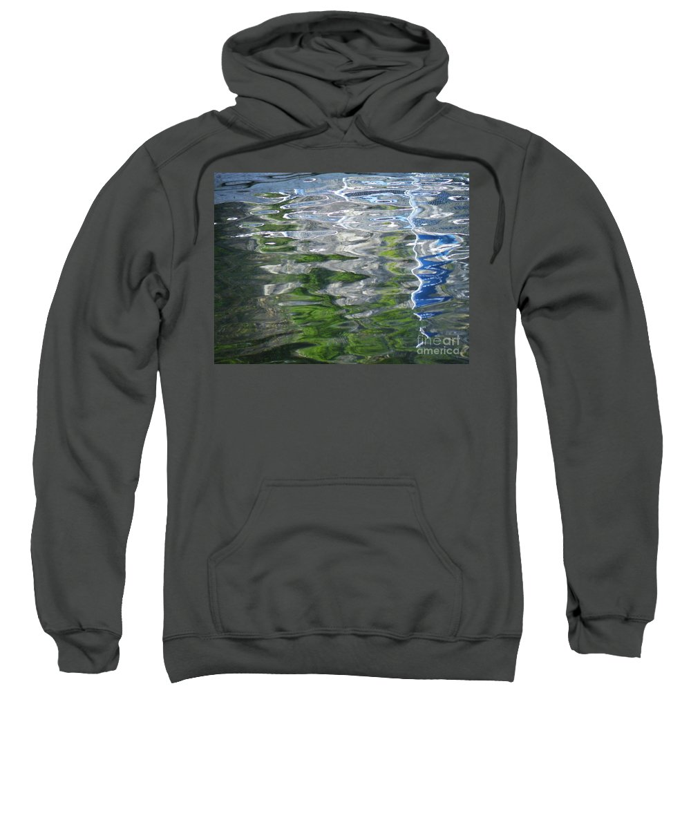 White Sweatshirt featuring the photograph White Line Fever by Brian Boyle