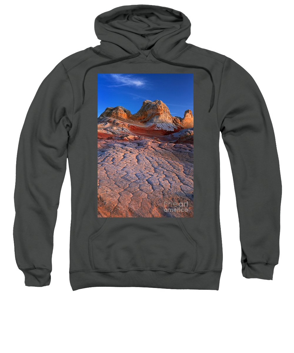 America Sweatshirt featuring the photograph White Pocket Afterglow by Inge Johnsson