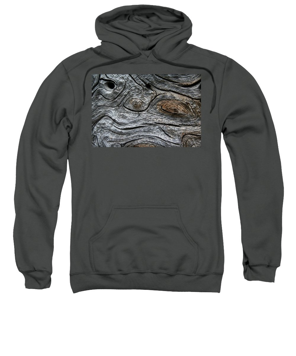 Psychedelic Sweatshirt featuring the photograph Whorls Of Wood by Ric Bascobert