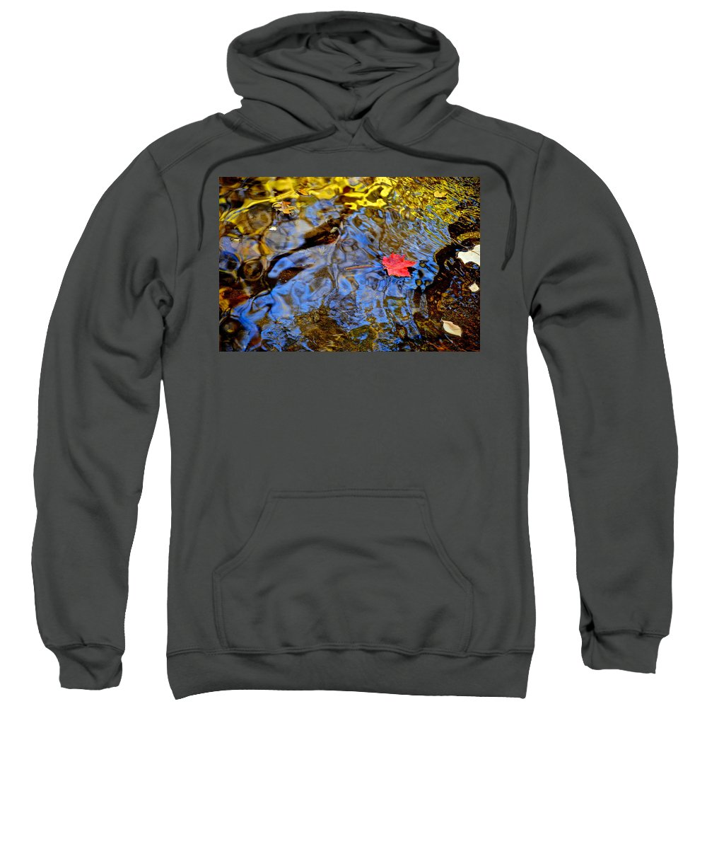 Wiggle Sweatshirt featuring the photograph Wiggling Water by Frozen in Time Fine Art Photography