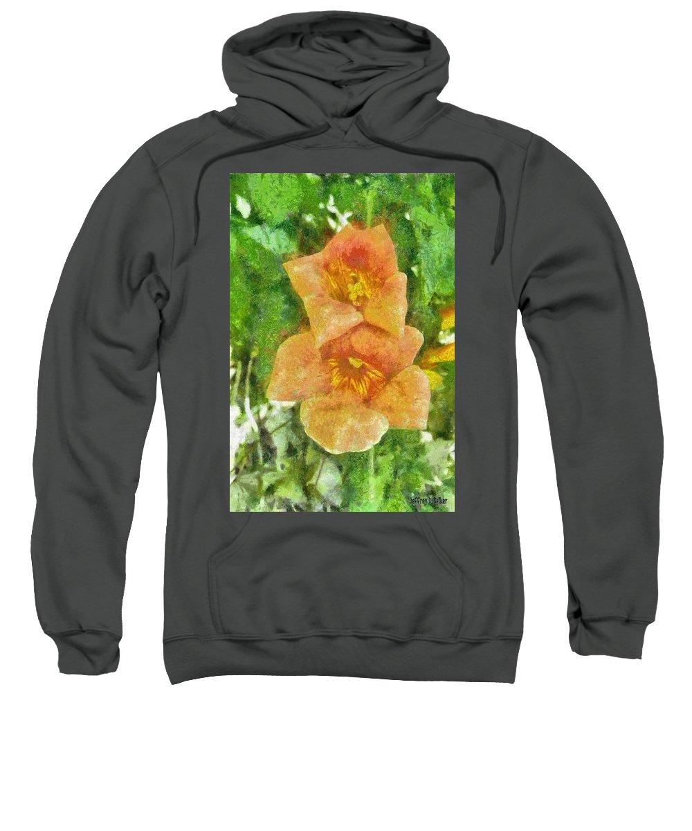 Bloom Sweatshirt featuring the painting Wild Flowers by Jeffrey Kolker
