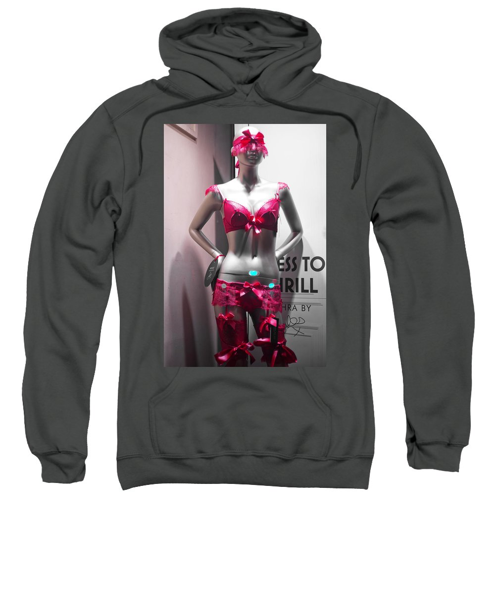 Windows Mannequins Sweatshirt featuring the painting Window Mannequin 1 by Alex Art and Photo