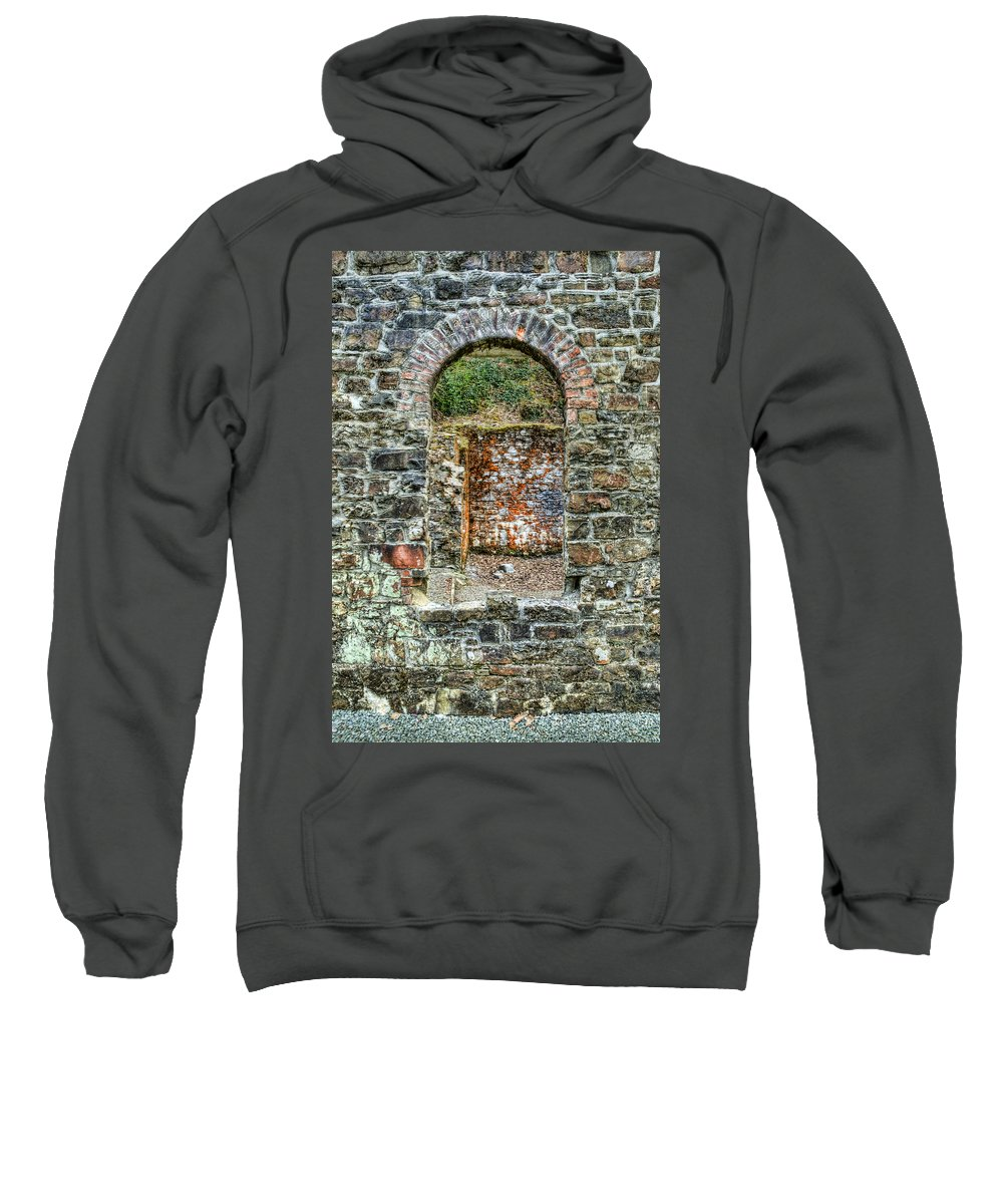 Stepaside Ironworks Sweatshirt featuring the photograph Window To A Bygone Heritage by Steve Purnell